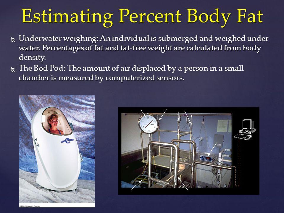 Estimating Percent Body Fat