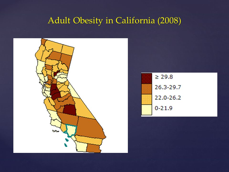 Adult Obesity in California (2008)