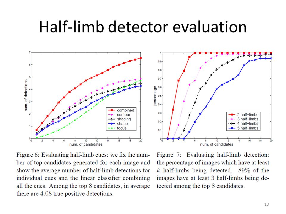 Half-limb detector evaluation