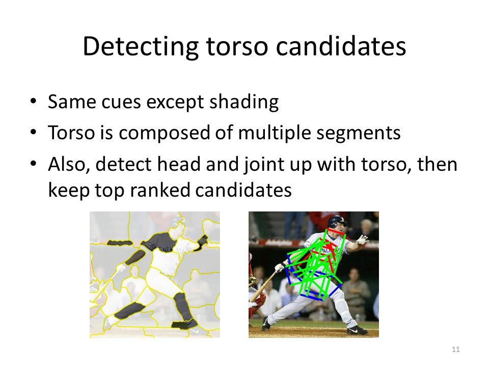 Detecting torso candidates