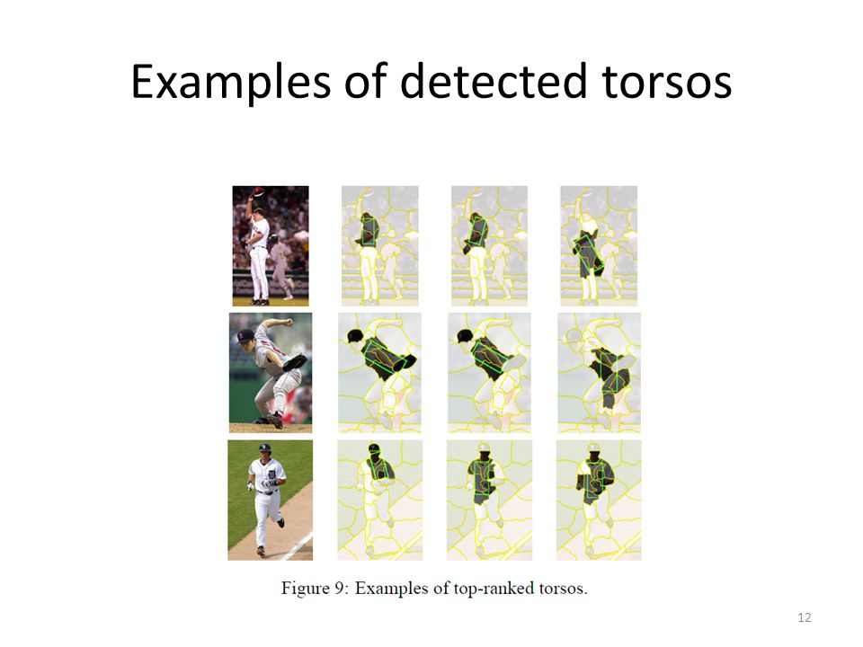 Examples of detected torsos