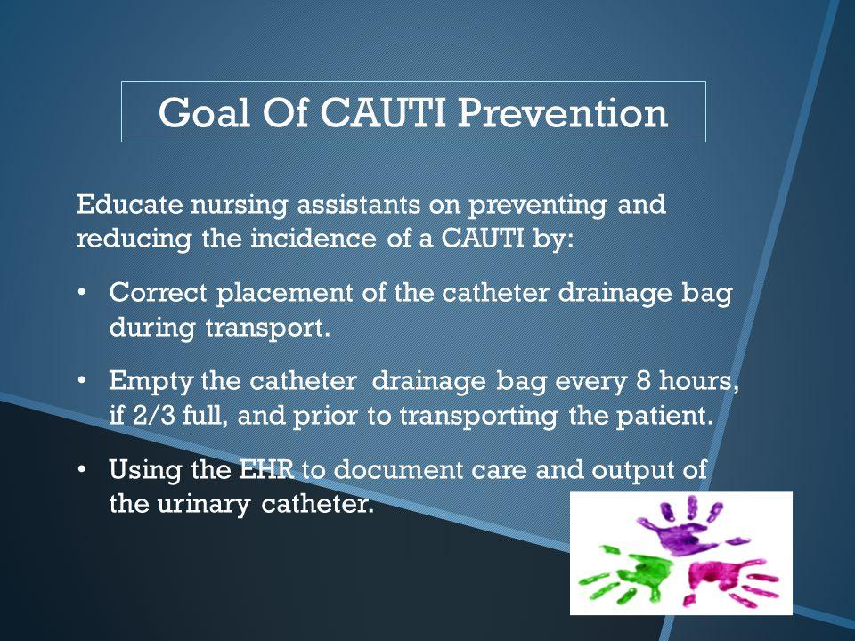 Goal Of CAUTI Prevention