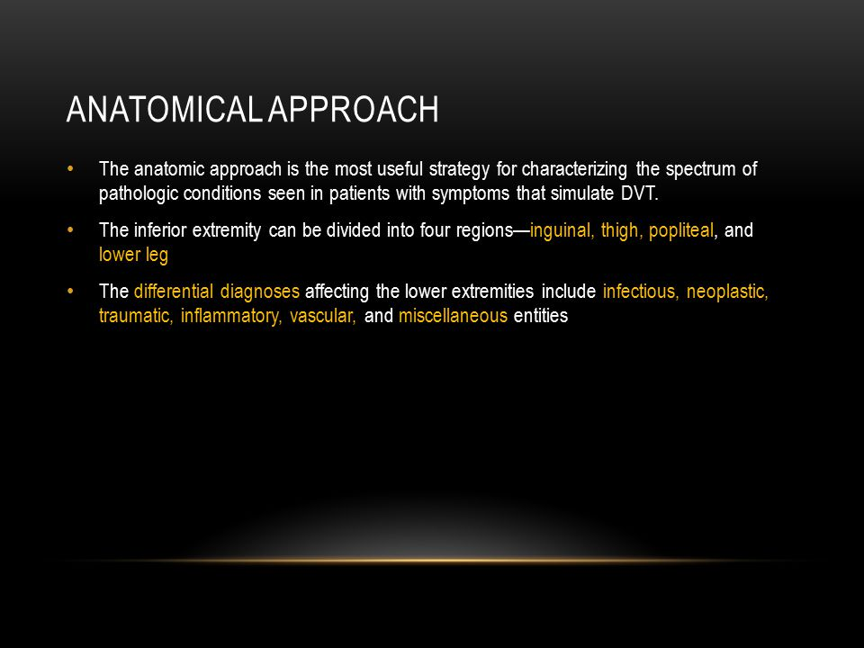 Anatomical approach