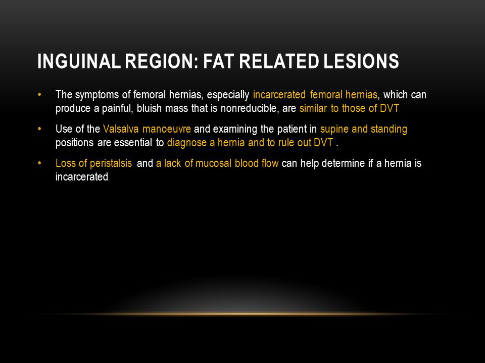 Inguinal Region: Fat related lesions