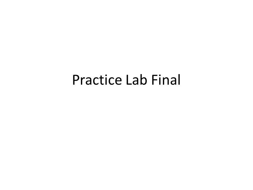Practice Lab Final. - ppt video online download
