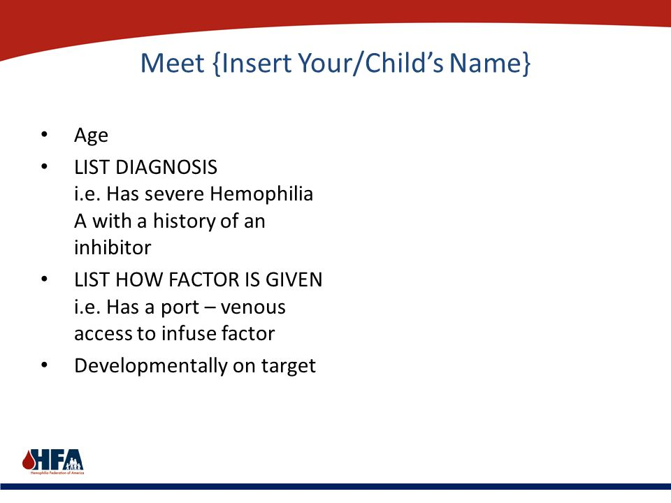 Meet {Insert Your/Child's Name}