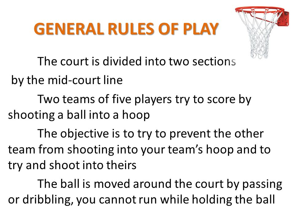 GENERAL RULES OF PLAY