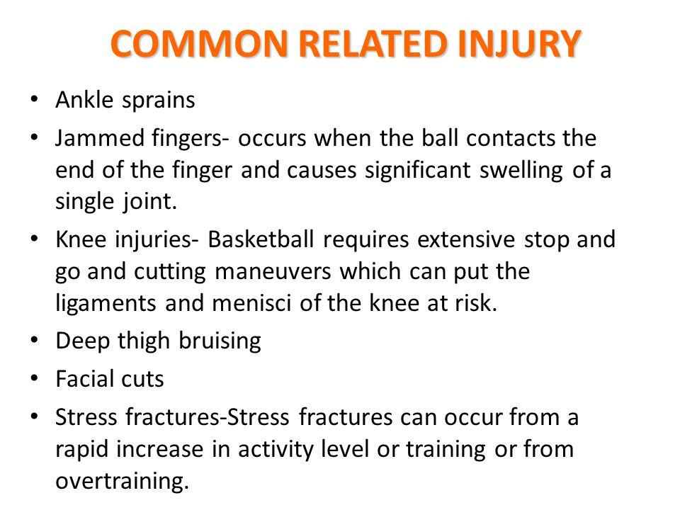 COMMON RELATED INJURY Ankle sprains