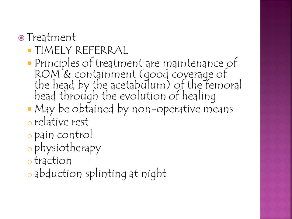 Treatment Timely referral.