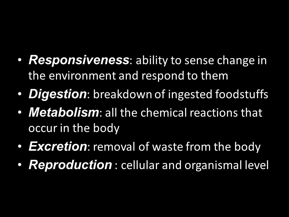 Responsiveness: ability to sense change in the environment and respond to them