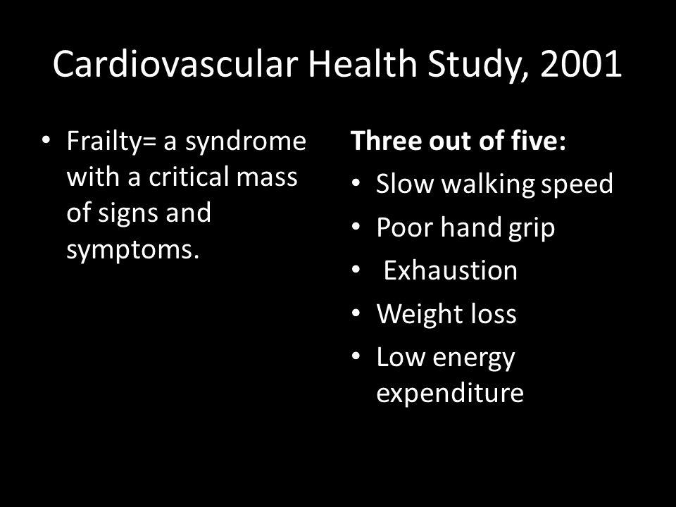 Cardiovascular Health Study, 2001