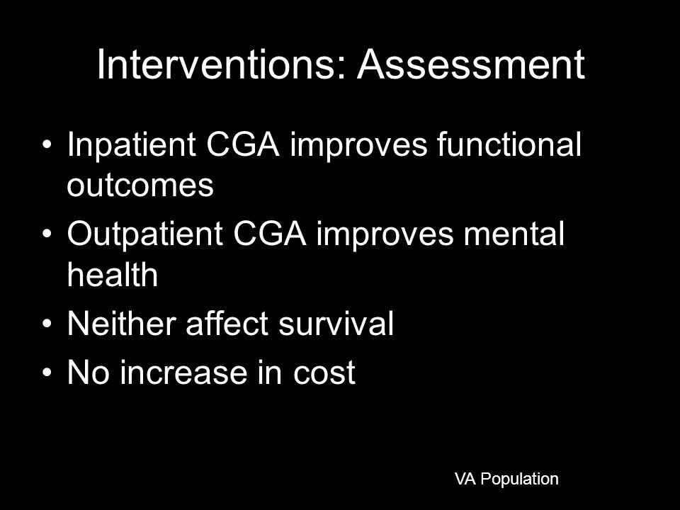 Interventions: Assessment