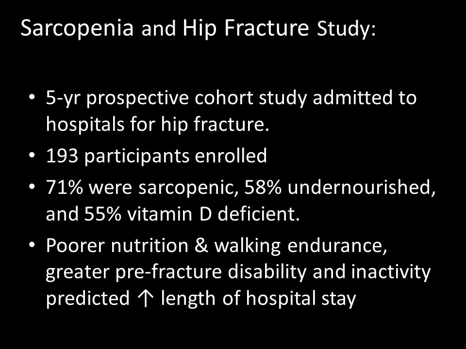 Sarcopenia and Hip Fracture Study: