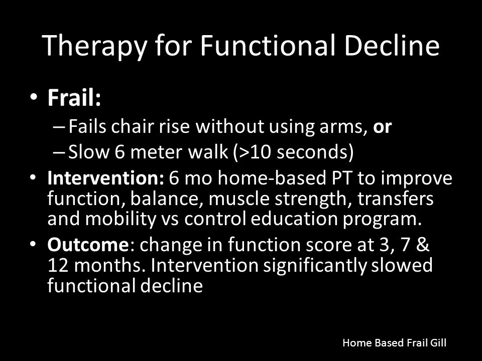 Therapy for Functional Decline