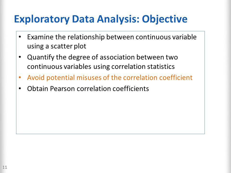 Exploratory Data Analysis: Objective