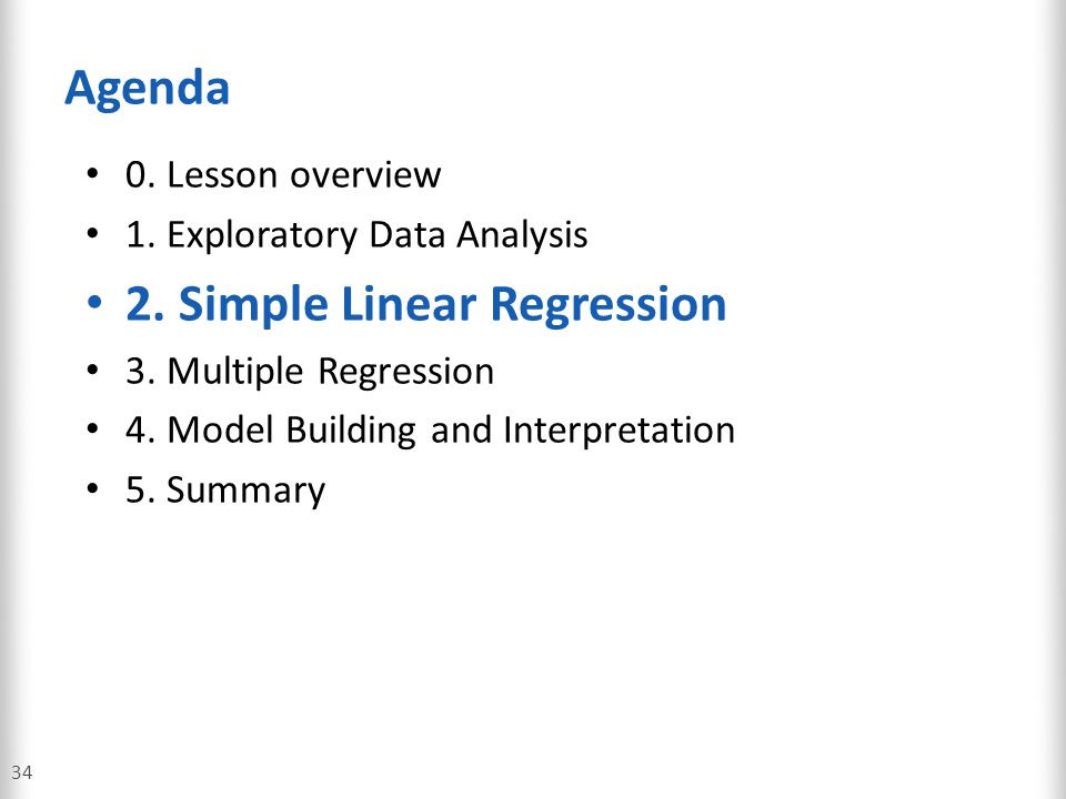 2. Simple Linear Regression