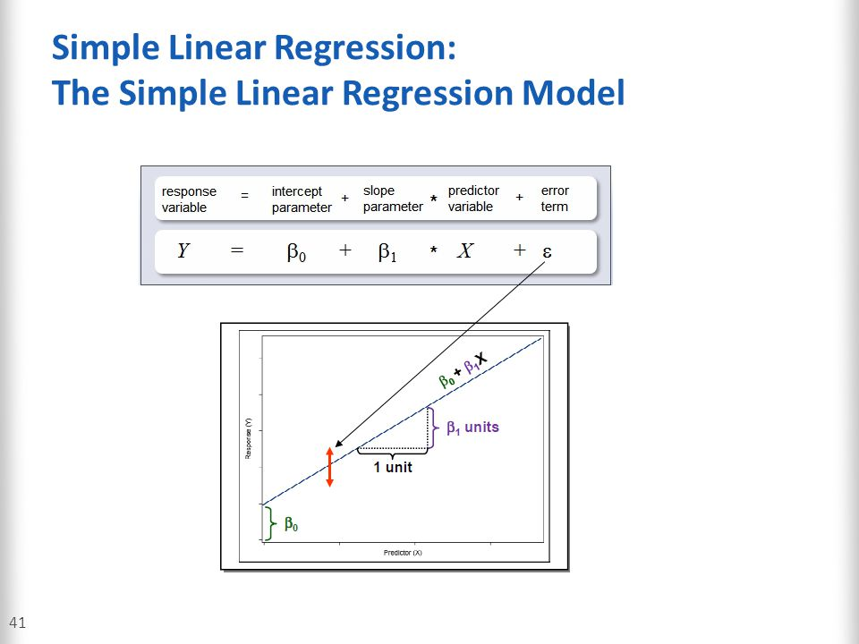Simple Linear Regression: The Simple Linear Regression Model