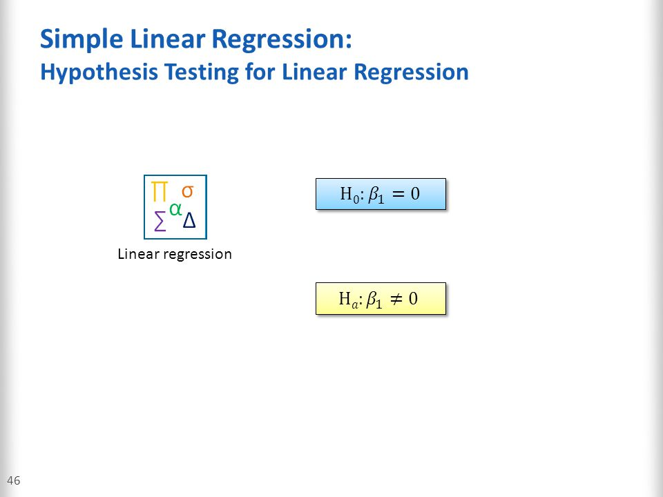 Simple Linear Regression: Hypothesis Testing for Linear Regression