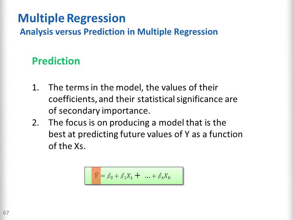Multiple Regression Analysis versus Prediction in Multiple Regression