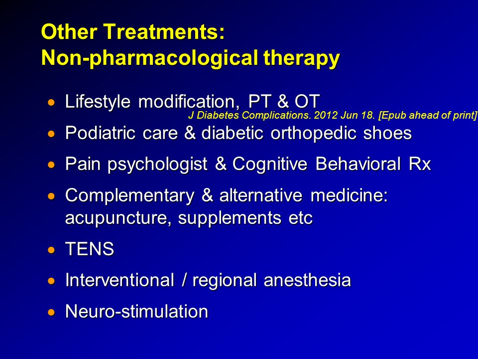 Other Treatments: Non-pharmacological therapy