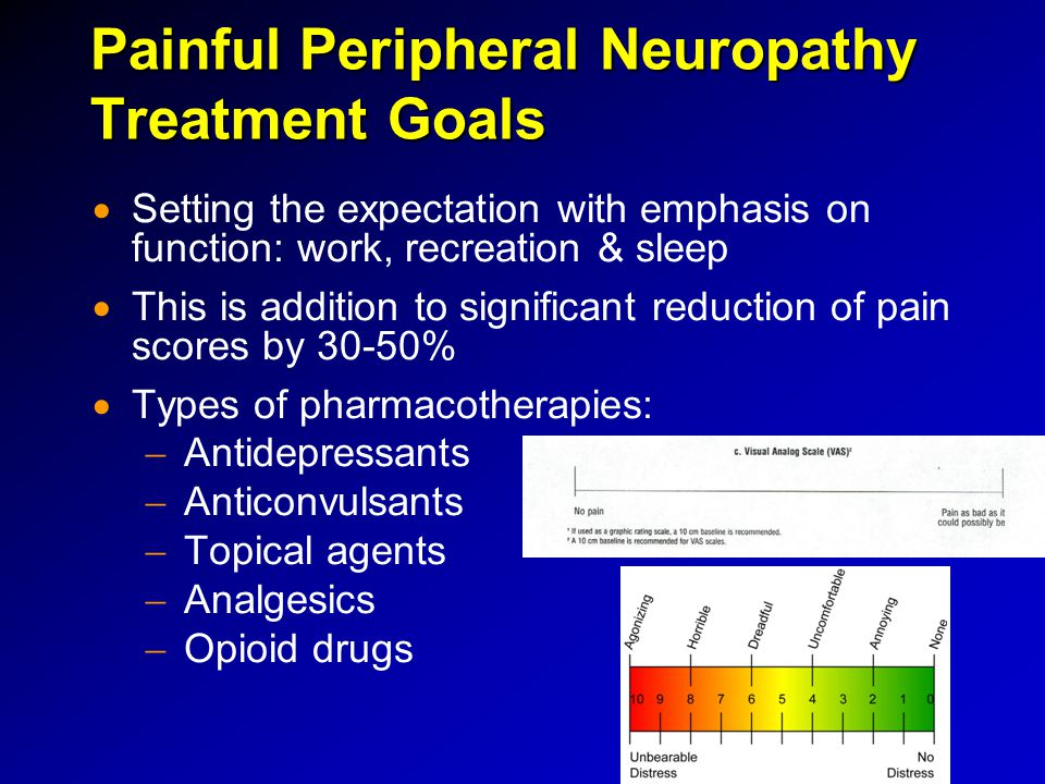 Painful Peripheral Neuropathy Treatment Goals