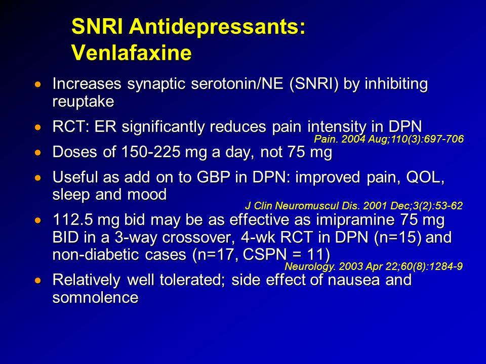 SNRI Antidepressants: Venlafaxine