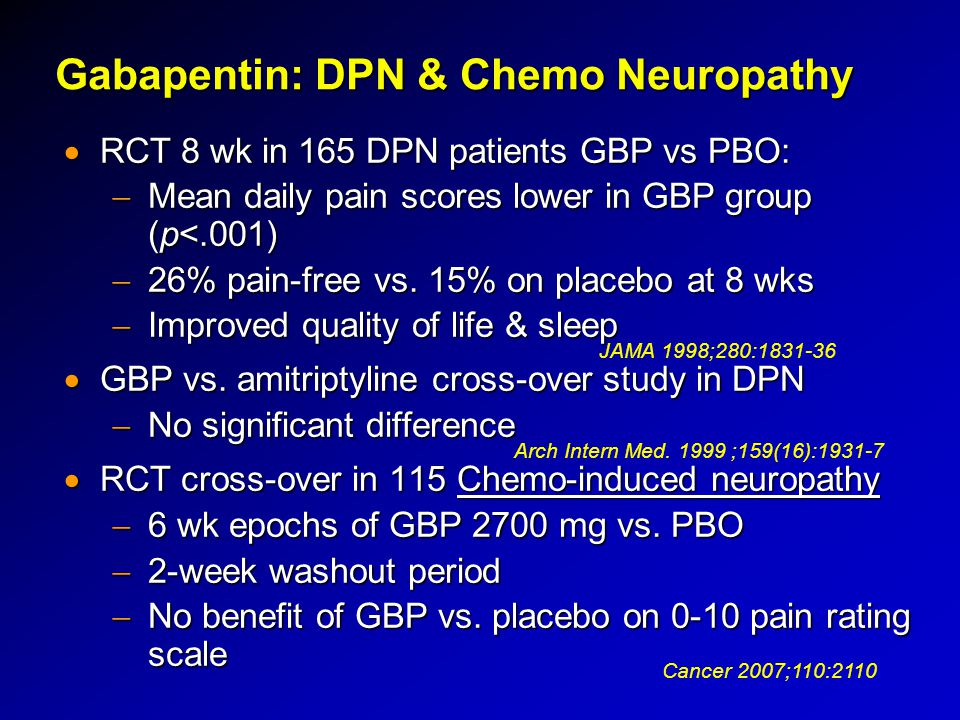 neurontin cancer pain