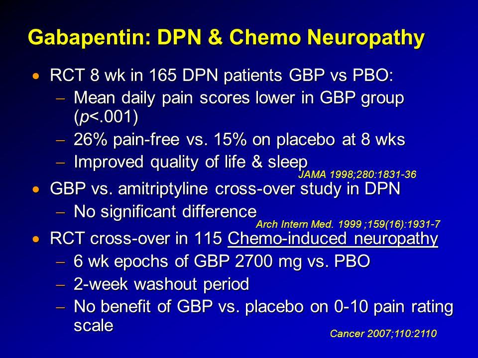 Gabapentin: DPN & Chemo Neuropathy