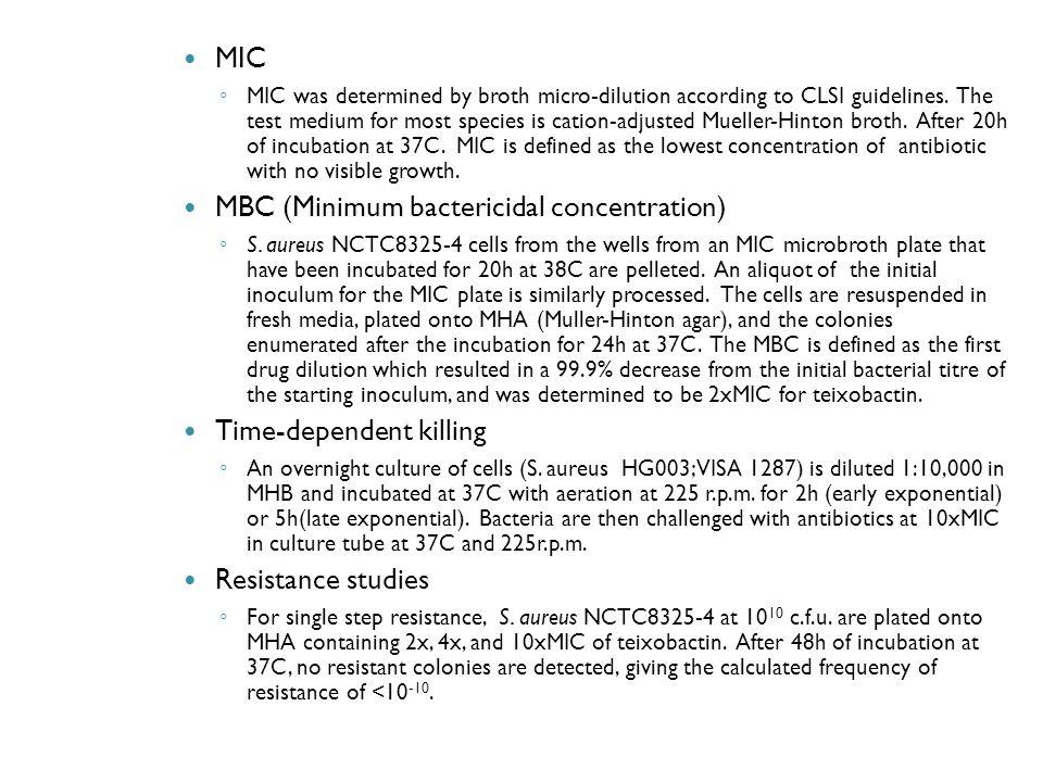 MBC (Minimum bactericidal concentration)