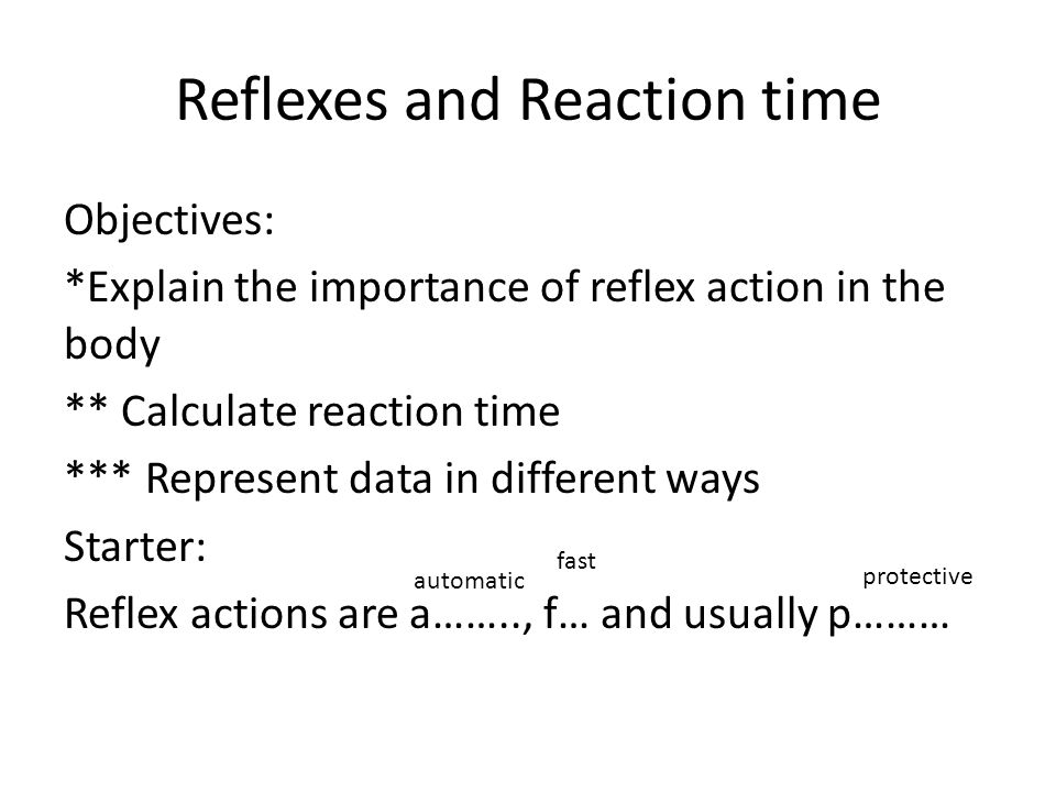 Reflexes and Reaction time