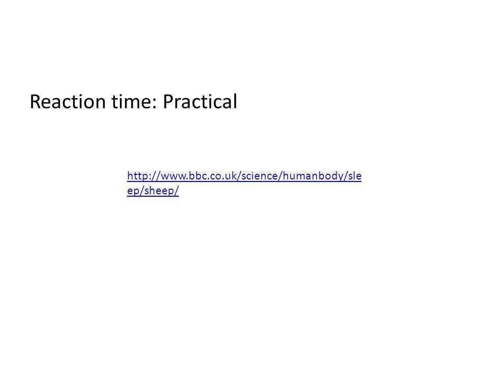 Reaction time: Practical