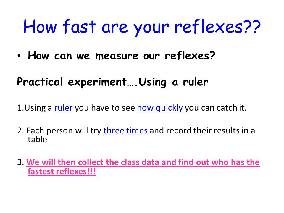 how to find your reaction time using a ruler