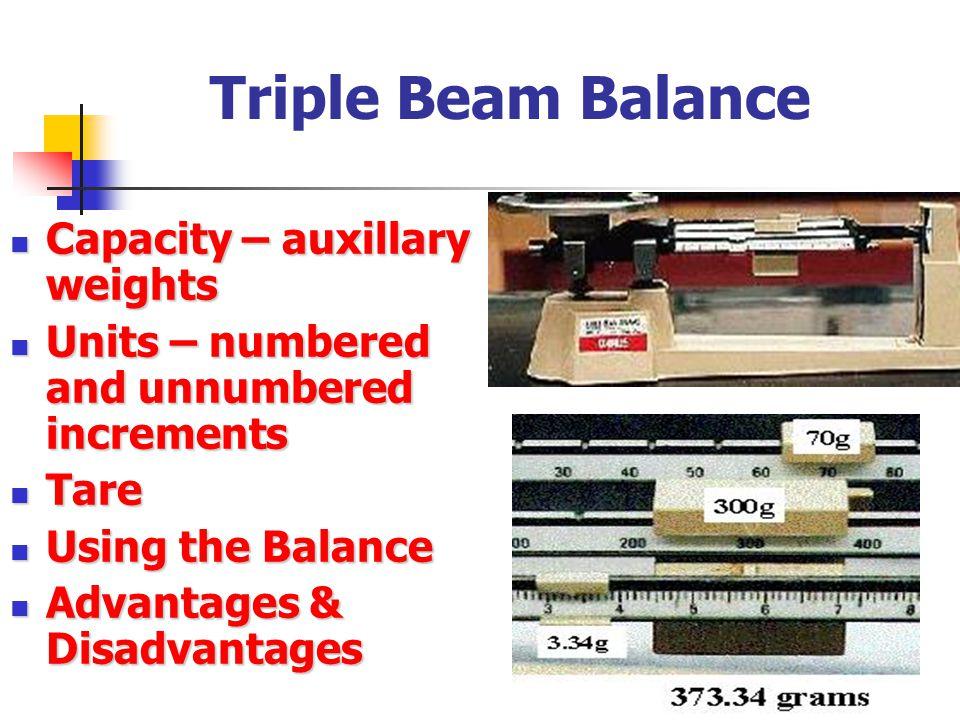 Triple Beam Balance Capacity – auxillary weights