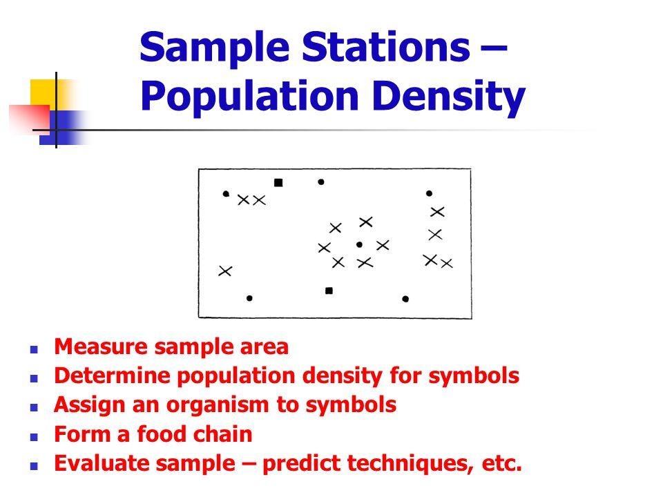 Sample Stations – Population Density