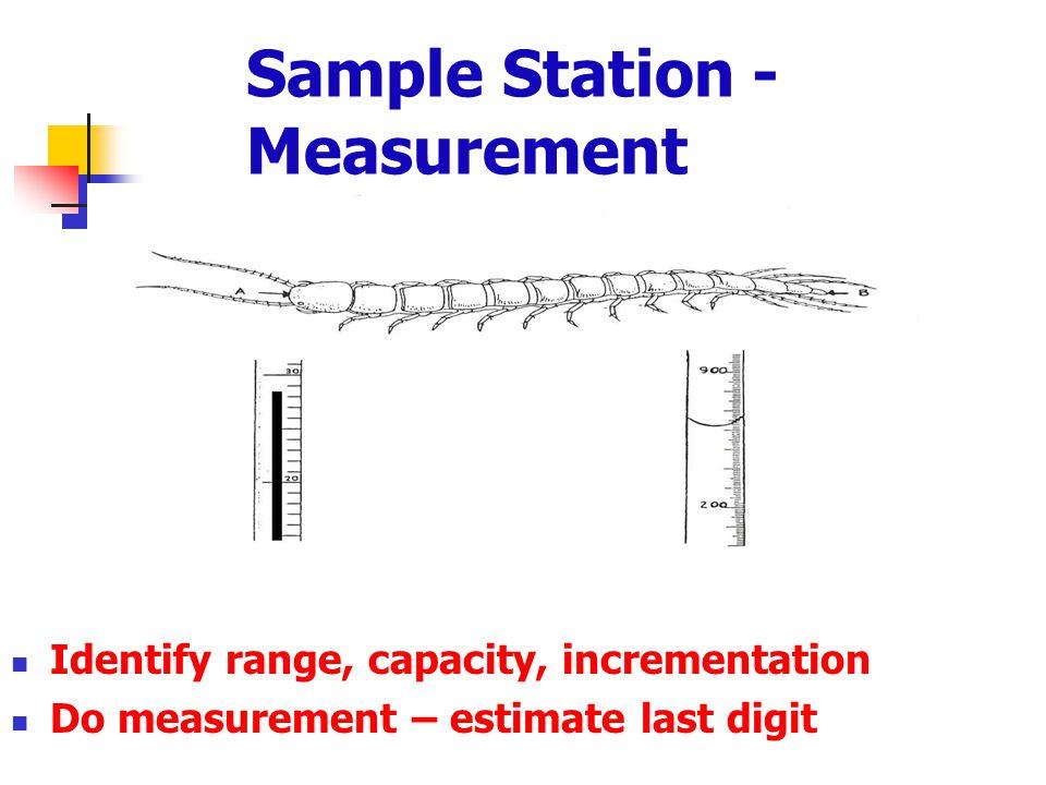 Sample Station - Measurement
