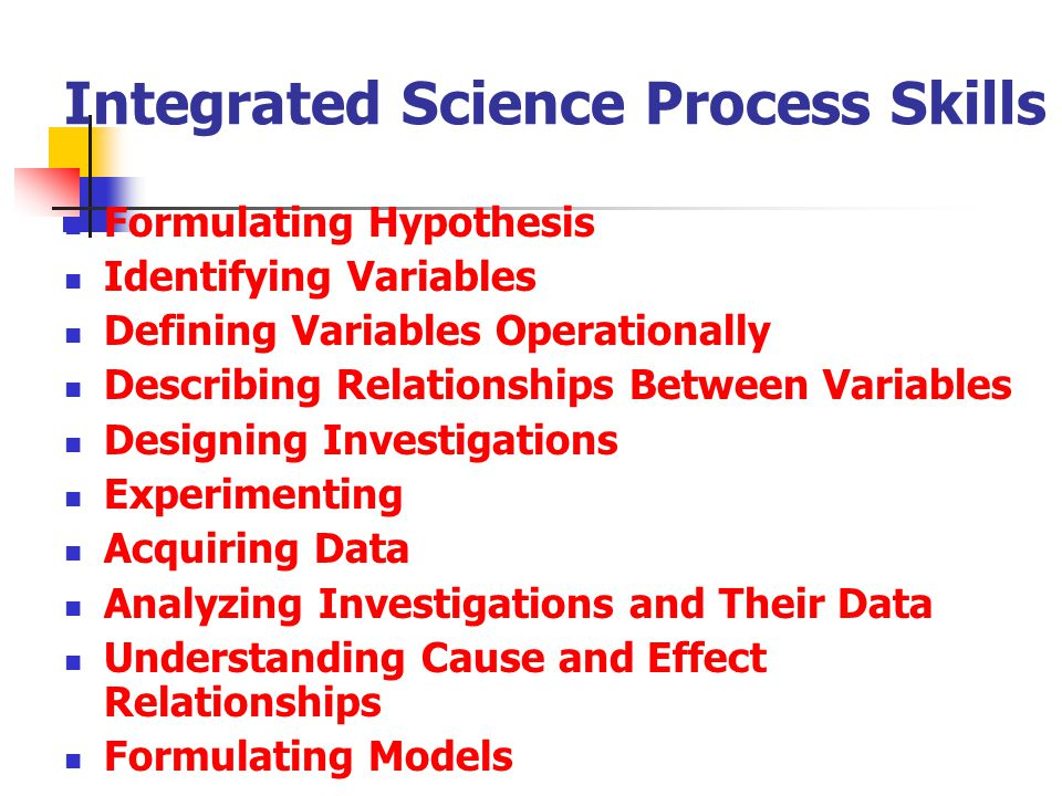Integrated Science Process Skills