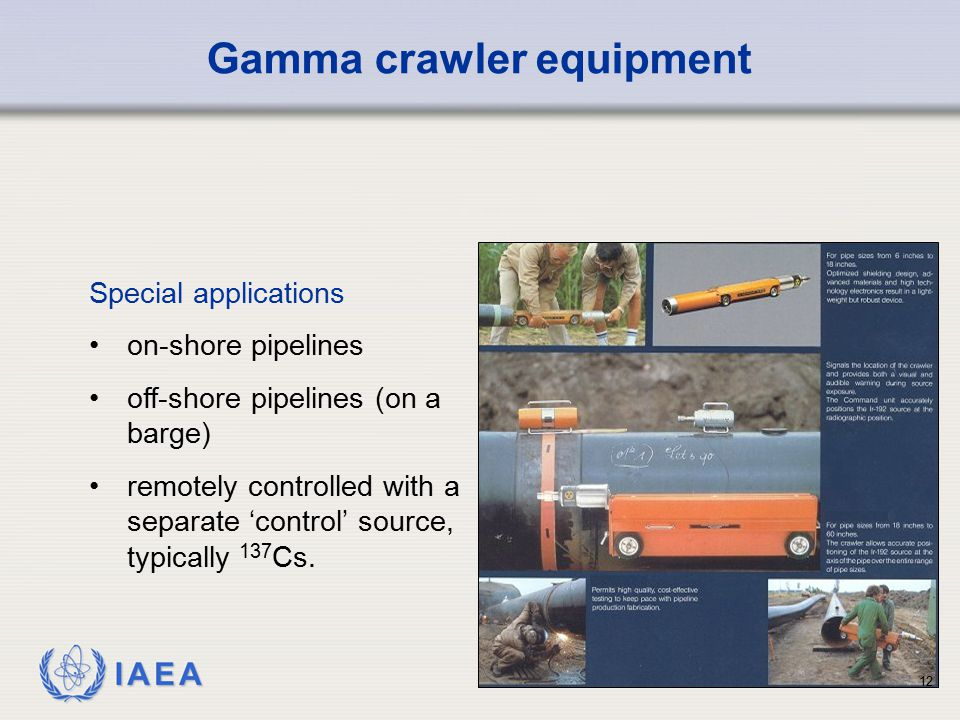 Gamma crawler equipment