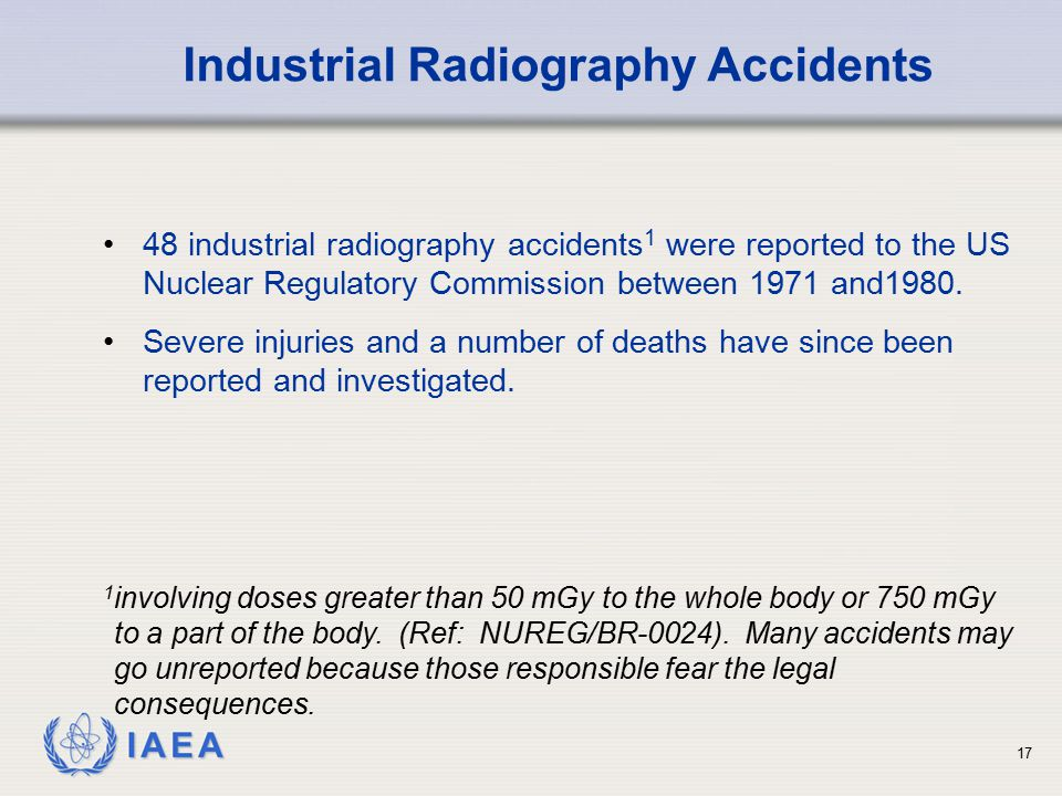 Industrial Radiography Accidents