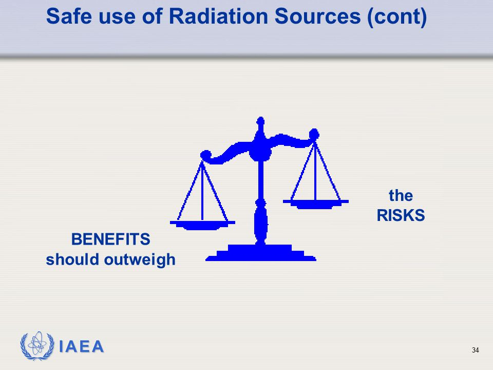 Safe use of Radiation Sources (cont)