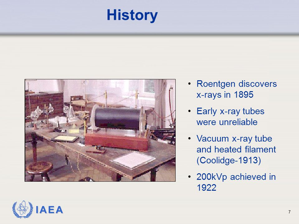 History Roentgen discovers x-rays in 1895