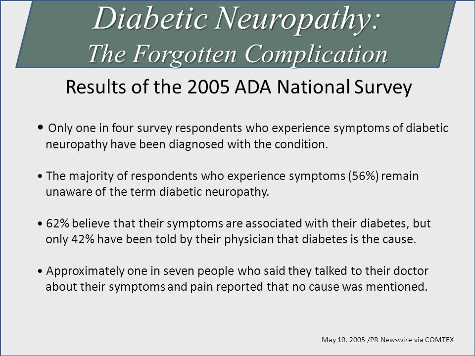 Diabetic Neuropathy: The Forgotten Complication