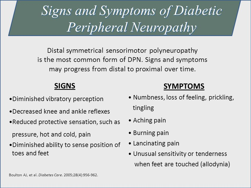 Signs and Symptoms of Diabetic Peripheral Neuropathy