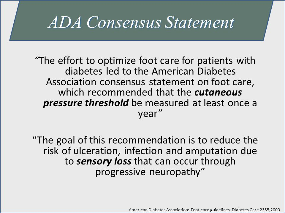 ADA Consensus Statement
