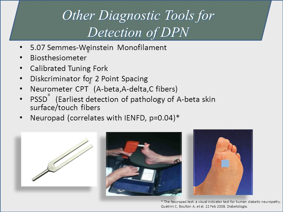 Other Diagnostic Tools for Detection of DPN