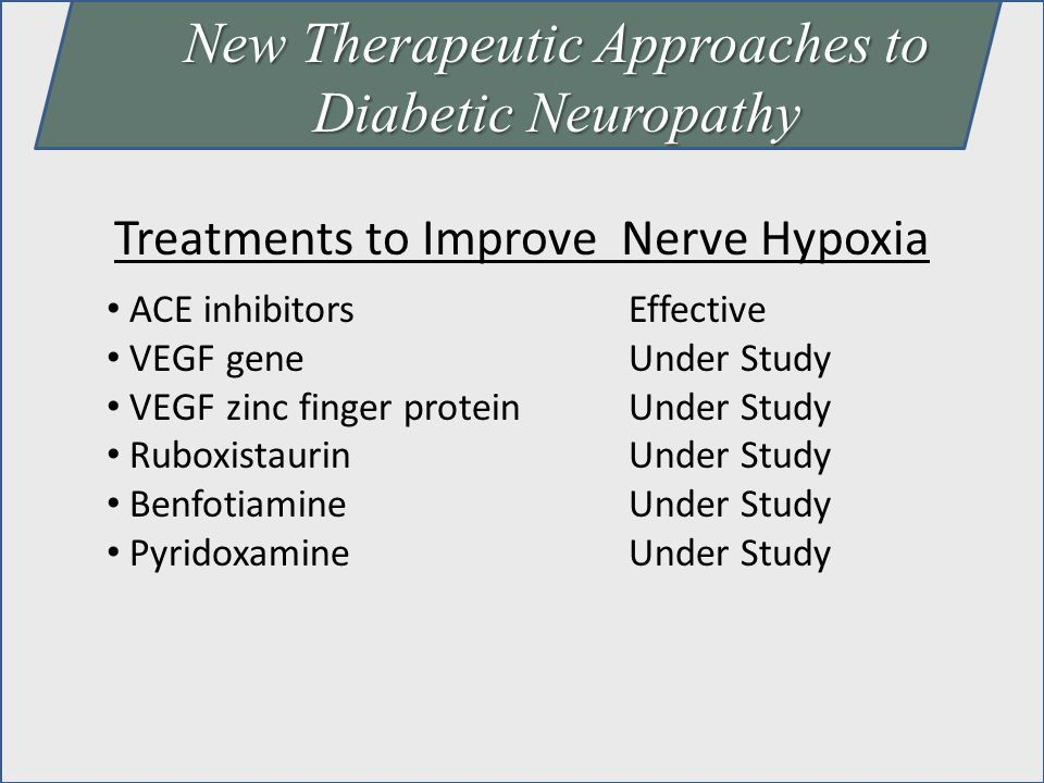 New Therapeutic Approaches to Diabetic Neuropathy