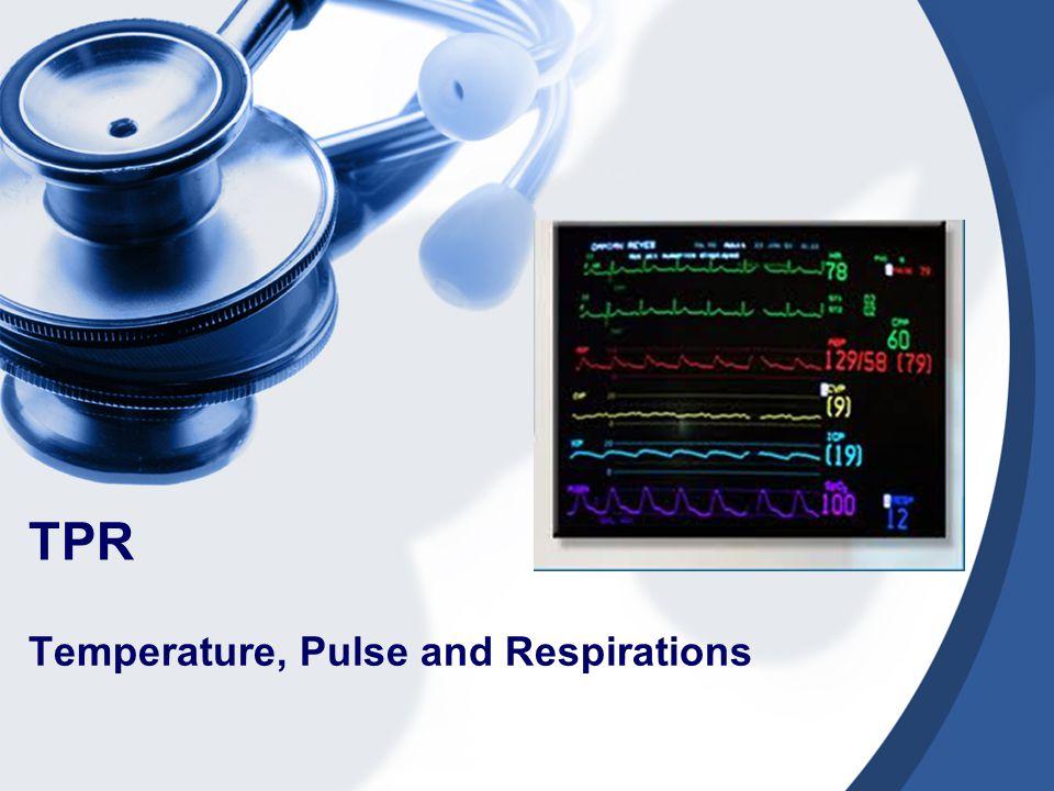 Temperature, Pulse and Respirations