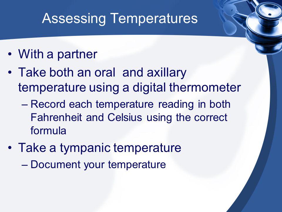 Assessing Temperatures