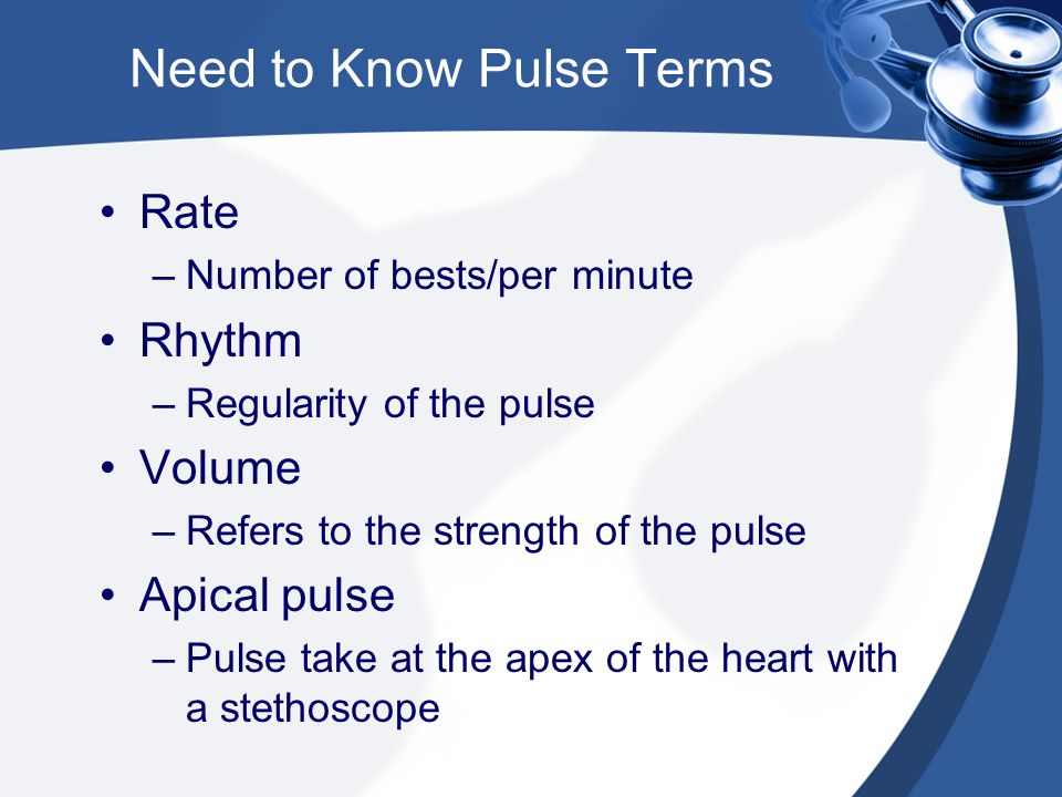 Need to Know Pulse Terms