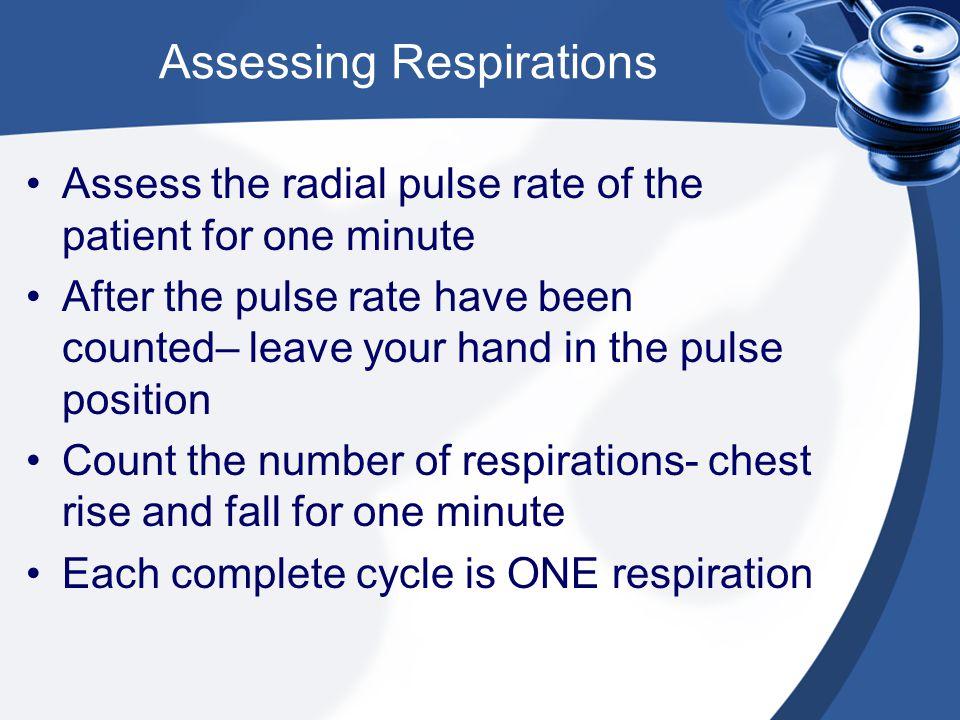 Assessing Respirations