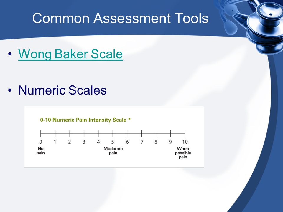 Common Assessment Tools
